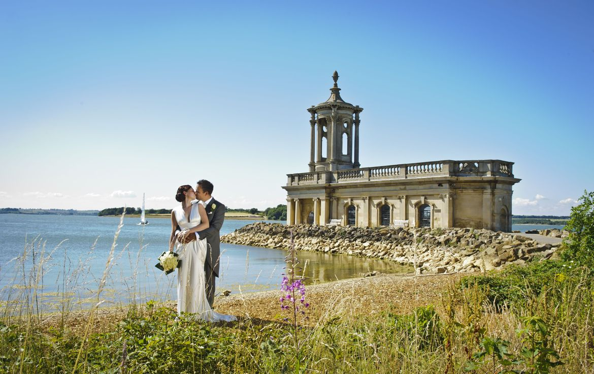 Getting married at Normanton Church in Rutland Water