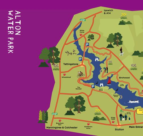 Alton Water Map