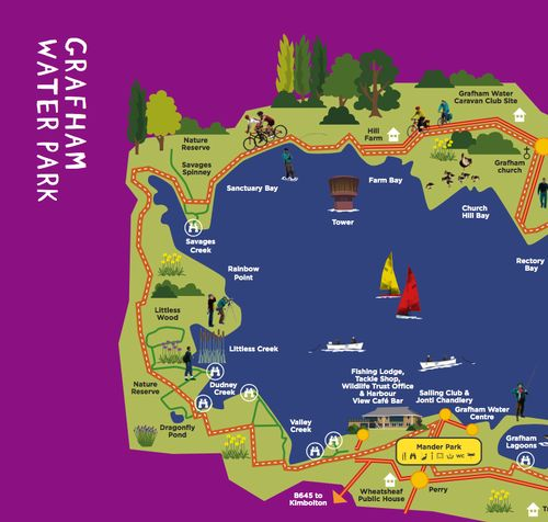 Grafham Water Park Map